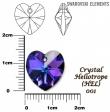 Swarovski heart crystal heliotrope 14.4 x 14 mm