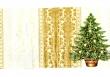 Vianočný stromček so zlatými ornamentami