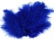 Pštrosie perie 120-170 mm, 20 ks v balení-tm.modré