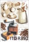 Ryžový papier 210x297mm- Retro káva
