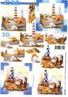 3D- obrázky-Maják a mušle