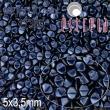 Vosk korálky POHÁNKA 5x3.5mm-20 ks-nočná modrá
