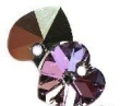 Swarovski heart pendant 6228 crystal vitrail  ligh