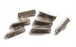 Kovové koncovky na kožu 8x20x7mm/2 ks/platinové