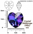 Swarovski heart pendants 6215-HELIOTROPE