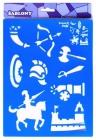 Plastové šablóny- rytieri