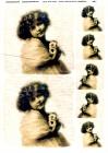 Ryžový papier 210x297mm- Dievčatko s kyticou