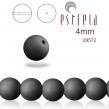 Sklenené voskované perličky 4mm/31 ks/matt čierna