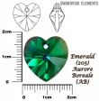 Swarovski heart pendants 6215-Emerald AB