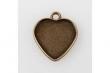 Lôžko na živicu-Srdce 25 mm/ staromosadz