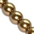 Sklenené voskované perličky 10 mm-zlatý kašmír