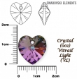 Swarovski heart pendant 6228 crystal vitrail light