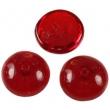 Piggi beads 4x8 mm-červené-30 ks