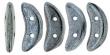 CZECH MATES CRESCENT 10x3mm-5g-Hematite