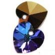 Swarovski heart pendants 6228-heliotrope