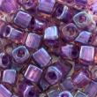 Toho CUBE 3 mm-Rainbow rosaline-opaque purple- 10g