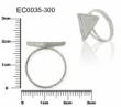 Lôžko na živicu prsteň s trojuholníkom 16mm