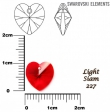 Swarovski HEART 6202 -10x10 mm-Light siam AB