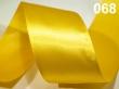 atlasová stuha 25 mm - cena za 1 m-žltá