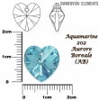 Swarovski HEART 6228 -14x14 mm,aquamarine
