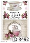 Ryžový papier 210x297mm- Tea time