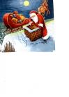 Santa Claus rozdáva darčeky