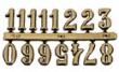Arabské číslice 20mm-zlaté