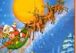 Santa Claus na saniach- celoplošná servítka