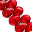 Sklenené kvapky 8x11 mm-červené