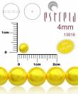 Sklen.voskované perličky 4 mm, 31 ks -pastel.žltá
