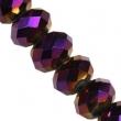 Sklenené rondelky 4.5x6 mm/10 ks v bal/Purple
