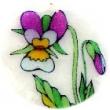 perleťový prívesok 5 cm-fialka