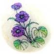 perleťový prívesok 5 cm-šafrán