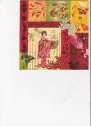 japonka v kimone a čínske motívy