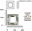 Swarovski SQUARE 4439,14 mm-crystal CAL V SI