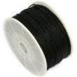 voskovaná niť 1 mm -cena za 1 m-čierna