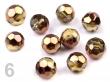 brúsené korálky s pokovom 8 mm- 10 ks -zlaté