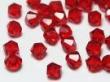 bicone červený 4mm-5ks