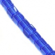 Sklenené  brúsené  kocky 4x4 mm-modré