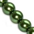 Sklenené voskované perličky 10 mm-zelené