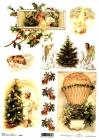 Ryžový papier 210x297mm-Retro vianočné motívy