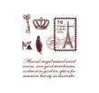 Silikónové pečiatky-Poštová známka a Paríž