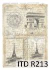 Ryžový papier 210x297mm- Paríž-obrázky