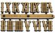 Rímske číslice 15mm-zlaté