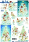 3D obrázky- Anjelikovia pri stromčeku