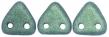 CZECH MATES TRIANGLE 6mm-5g-Metallic suede green