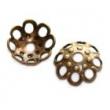 kaplíky 5,5mm- antické zlato, 10ks v balení