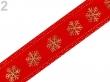 Vianočná stuha 25 mm/červená/cena za 1m