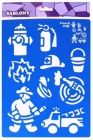 Plastové šablóny- Požiarnici
