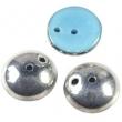 Piggi beads 4x8 mm- Silver blue-30 ks
